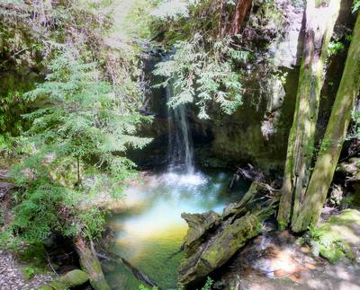 Hidden waterfall at Big Basin Redwoods State Park