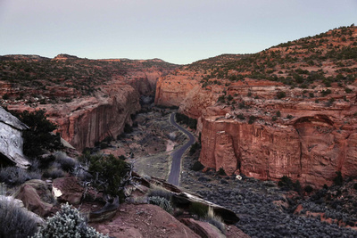 Along the Burr Trail Road near Capitol Reef National Park