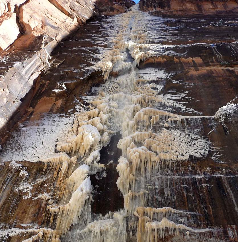 Frozen Waterfall in The Narrows