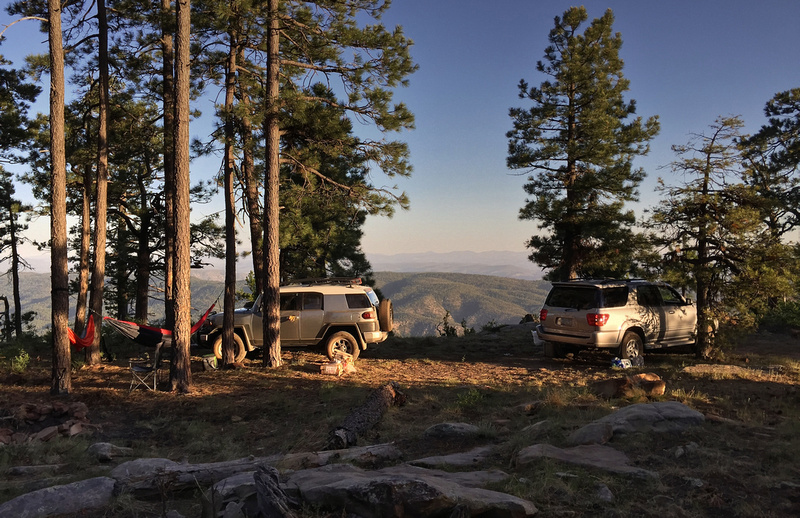 Camping at Promontory Butte