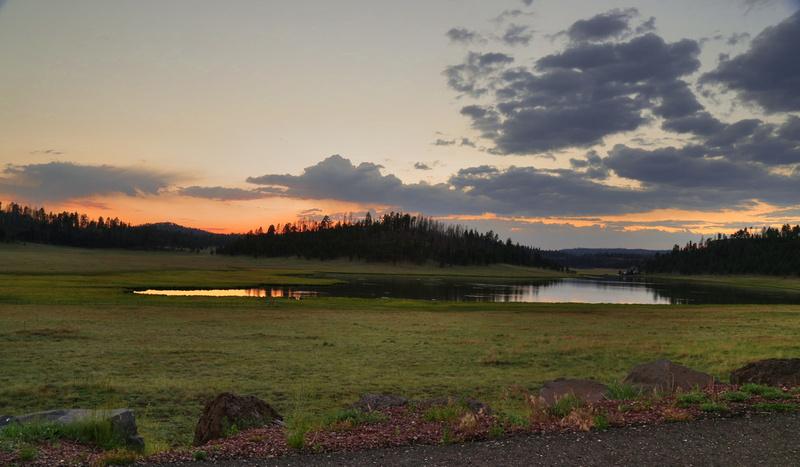 Sunset at Sierra Blanca Lake