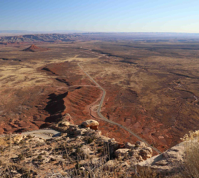 View from the top of the Moki Dugway