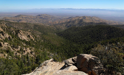 View from the Santa Catalina Mountains in Tucson