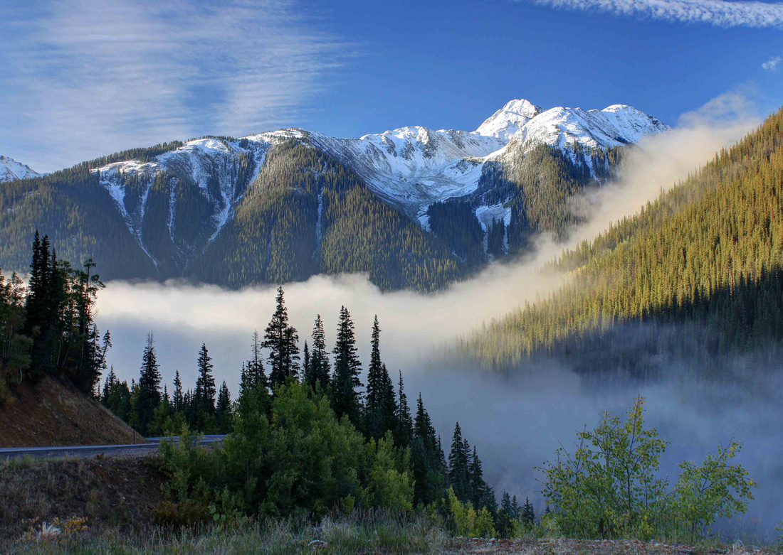 Kendall Peak and Fog in Silverton, Colorado