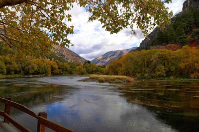 Fall Color along the Logan River in Utah