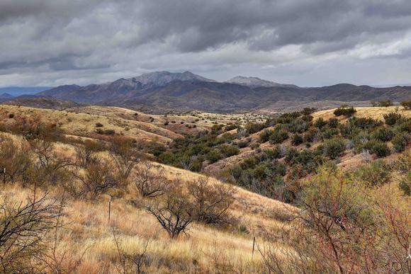 Santa Rita Foothills and Apache Peak