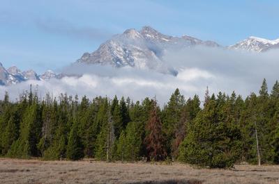 Morning fog in the Teton Range
