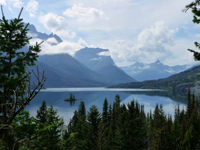 St Mary Lake and Wild Goose Island