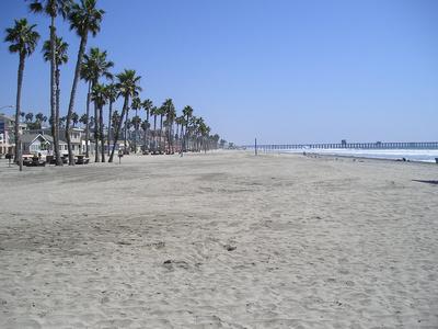 The beach in Oceanside California
