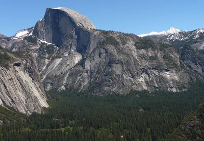 Half Dome along the hike to Yosemite Falls