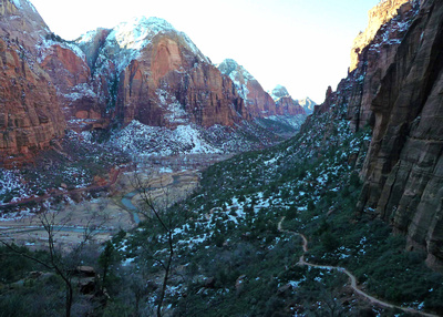 Part way up to the Angels Landing trail